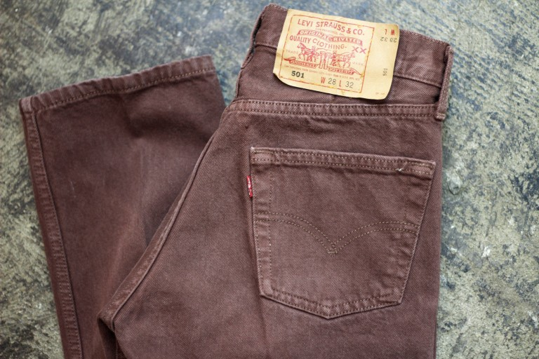 "Levi's Vintage 501 80′s Denim Made in U.S.A ""BROWN"""