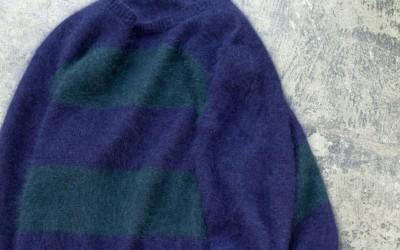 Jenni Kayne Mohair Border Knit