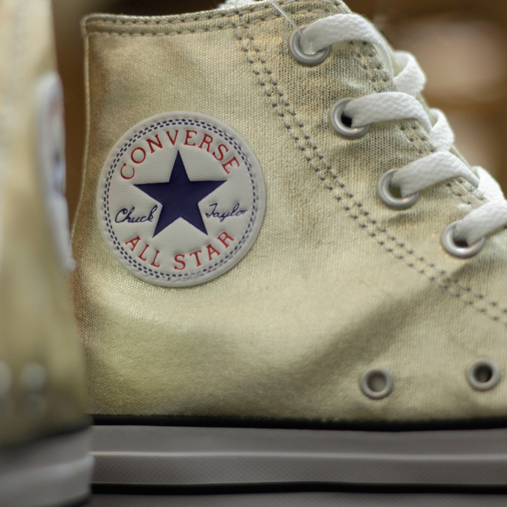 "CONVERSE All Star Hi Metallic ""SHINY GOLD"""