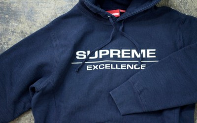 Supreme 2017AW Reflective Excellence Hooded Sweatshirt