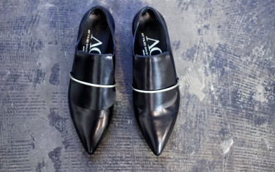 Attilio Giusti Leombruni Silver Arch Leather Loafer