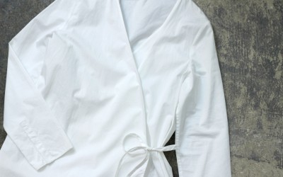 COS Cross Wrap White Shirts