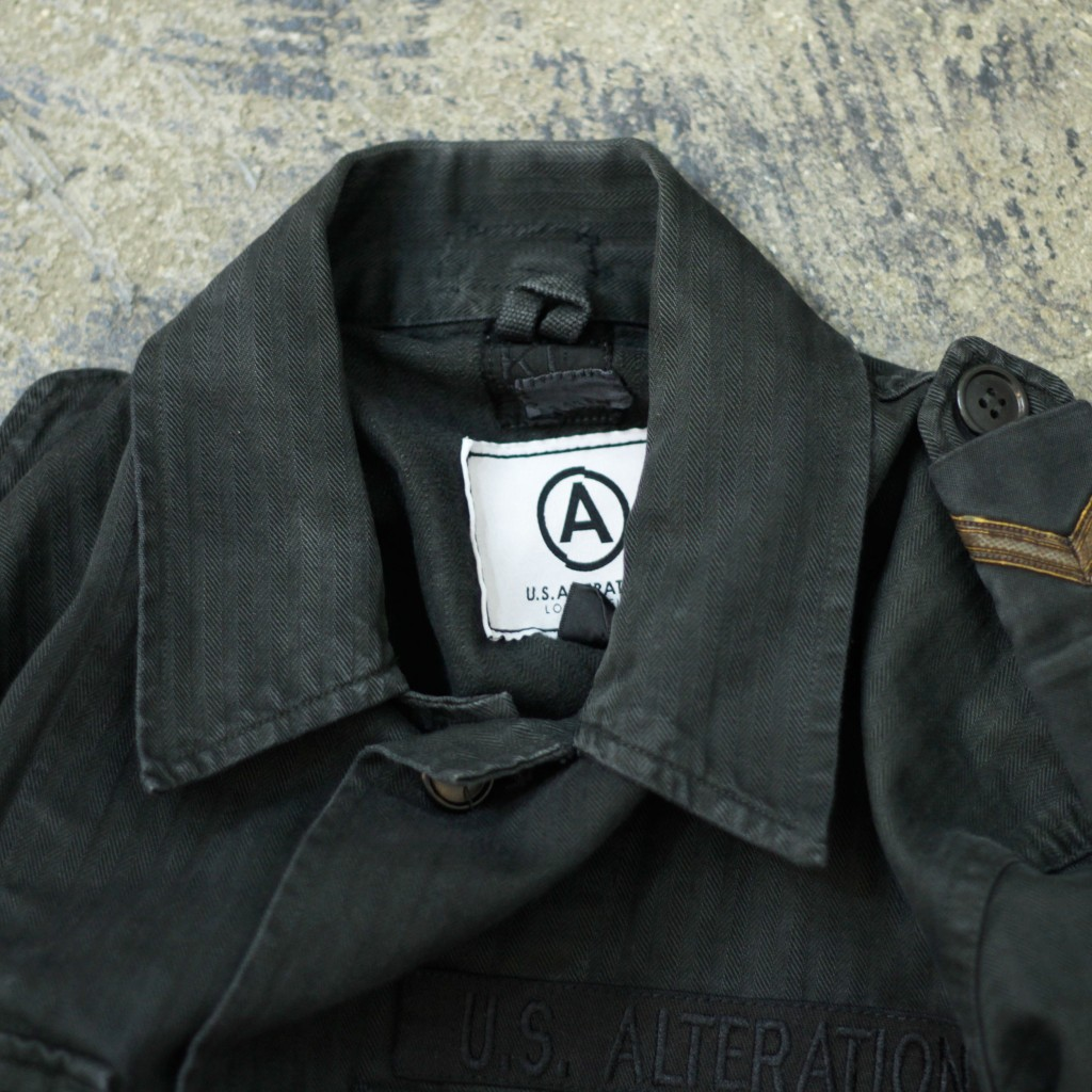U.S. ALTERATION Vintage Black Military Customize Jacket
