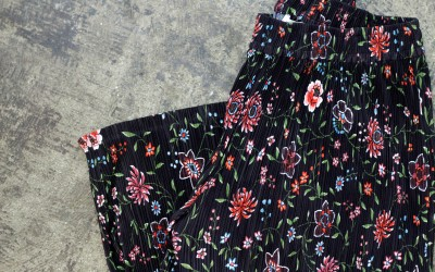 & Other Stories Pleated Floral Pants