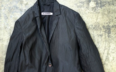 JIL SANDER Silk Black Jacket