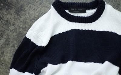 rag & bone Border Cotton Knit