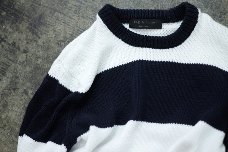 rag & bone Border Cotton Knit