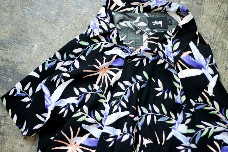 STUSSY Tropical Print Rayon Shirt