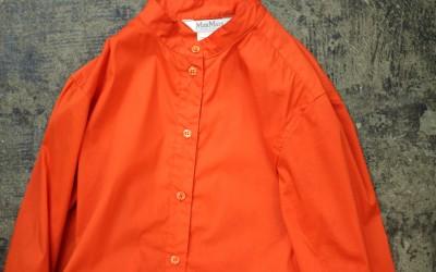 Max Mara Band Collar Long Shirt