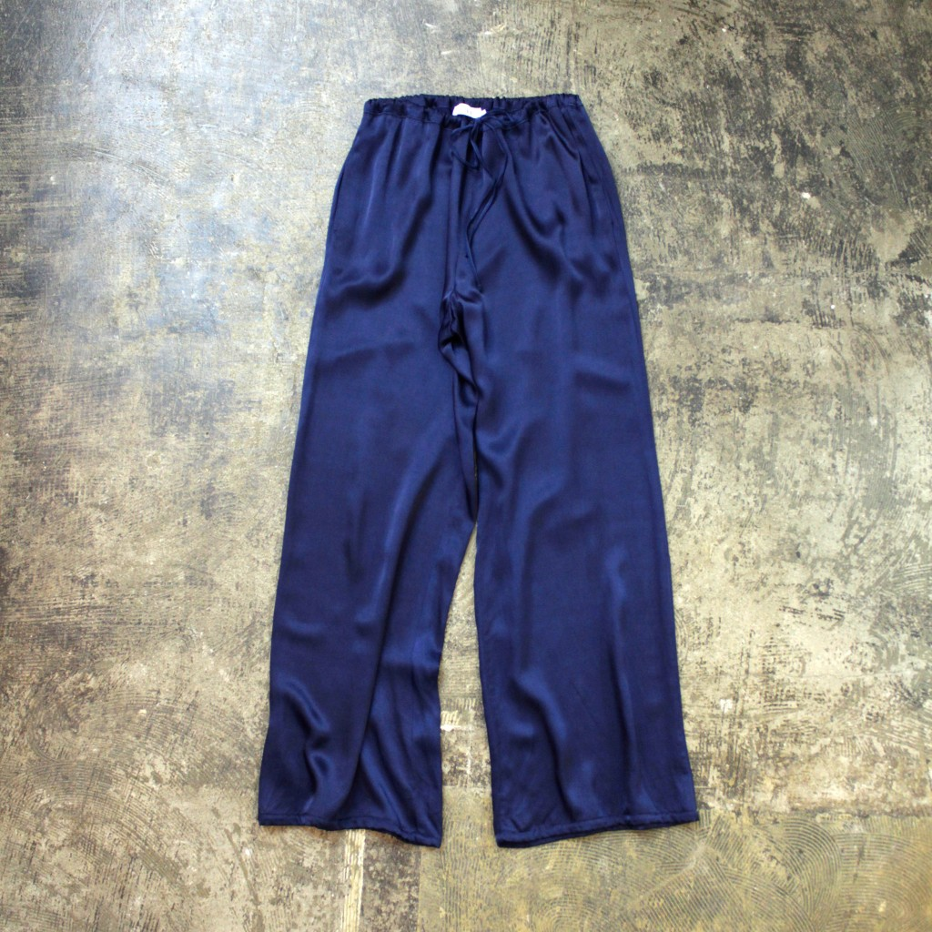 LACAUSA Satin Easy Pants