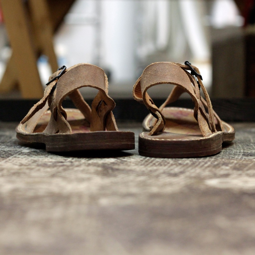 "French Military Vintage 1950's Desert Sandals ""DEAD STOCK"""