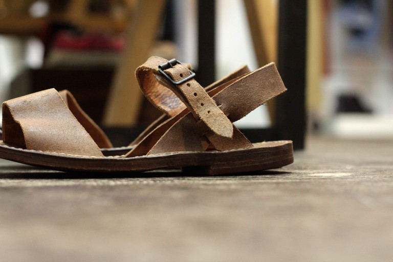 "French Military Vintage 1950′s Desert Sandals ""DEAD STOCK"""