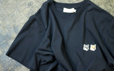 MAISON KITSUNÉ Double Fox Head Patch T-Shirts
