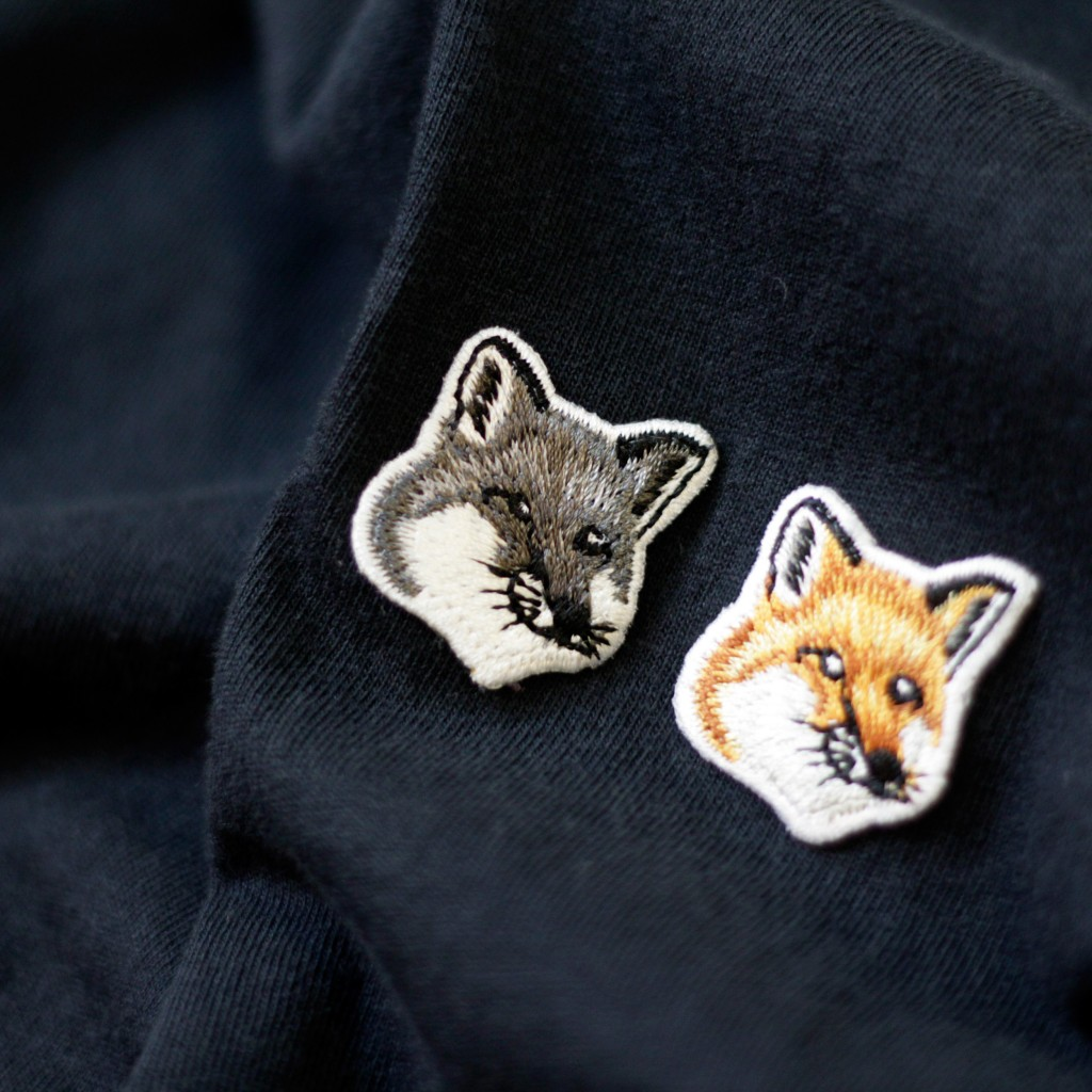 MAISON KITSUNE Double Fox Head Patch T-Shirts