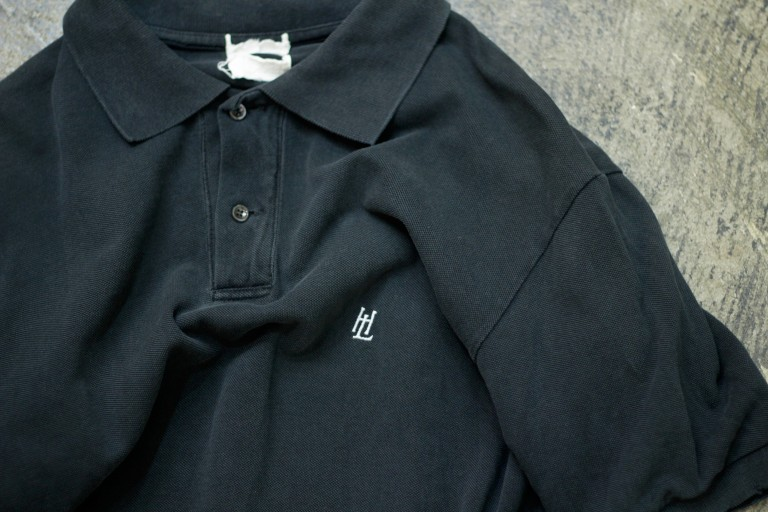Helmut Lang 1990′s Monogram Logo Polo Shirt