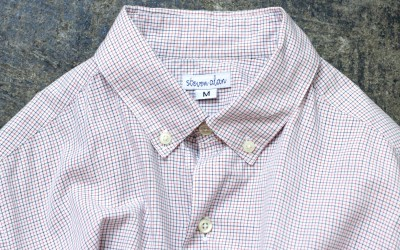 steven alan S/S Tattersall Check Shirt