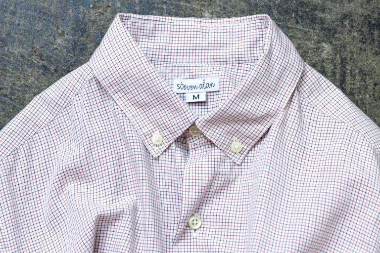 steven alan S/S Tattersall Check Shirt
