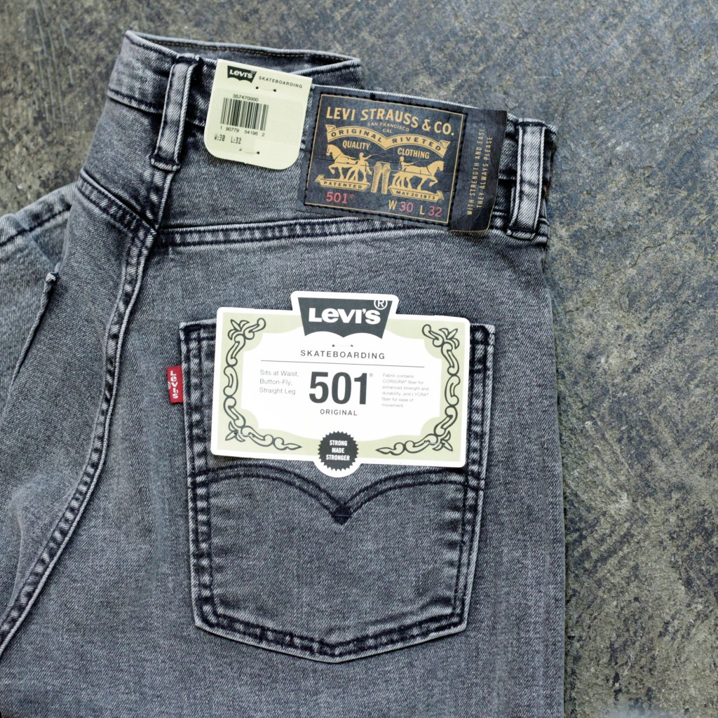 LEVI'S SKATEBOARDING 501 Black Denim
