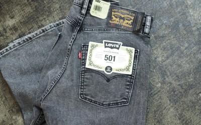 LEVI'S SKATEBOARDING 501 Black Denim