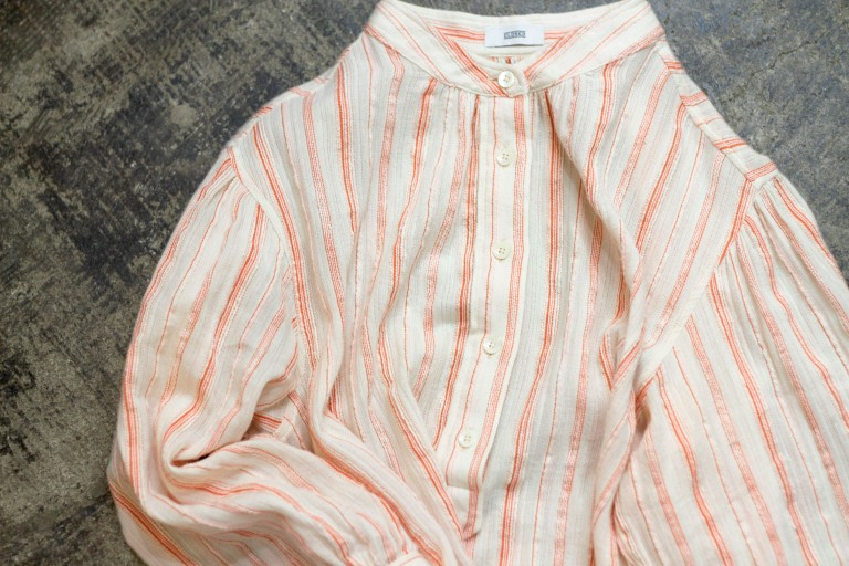 CLOSED Stand-Collar Stripe Pullover Shirts