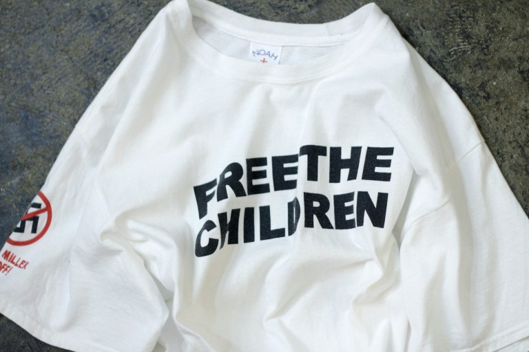 "NOAH Graphic T-Shirts ""FREE THE CHILDREN"""