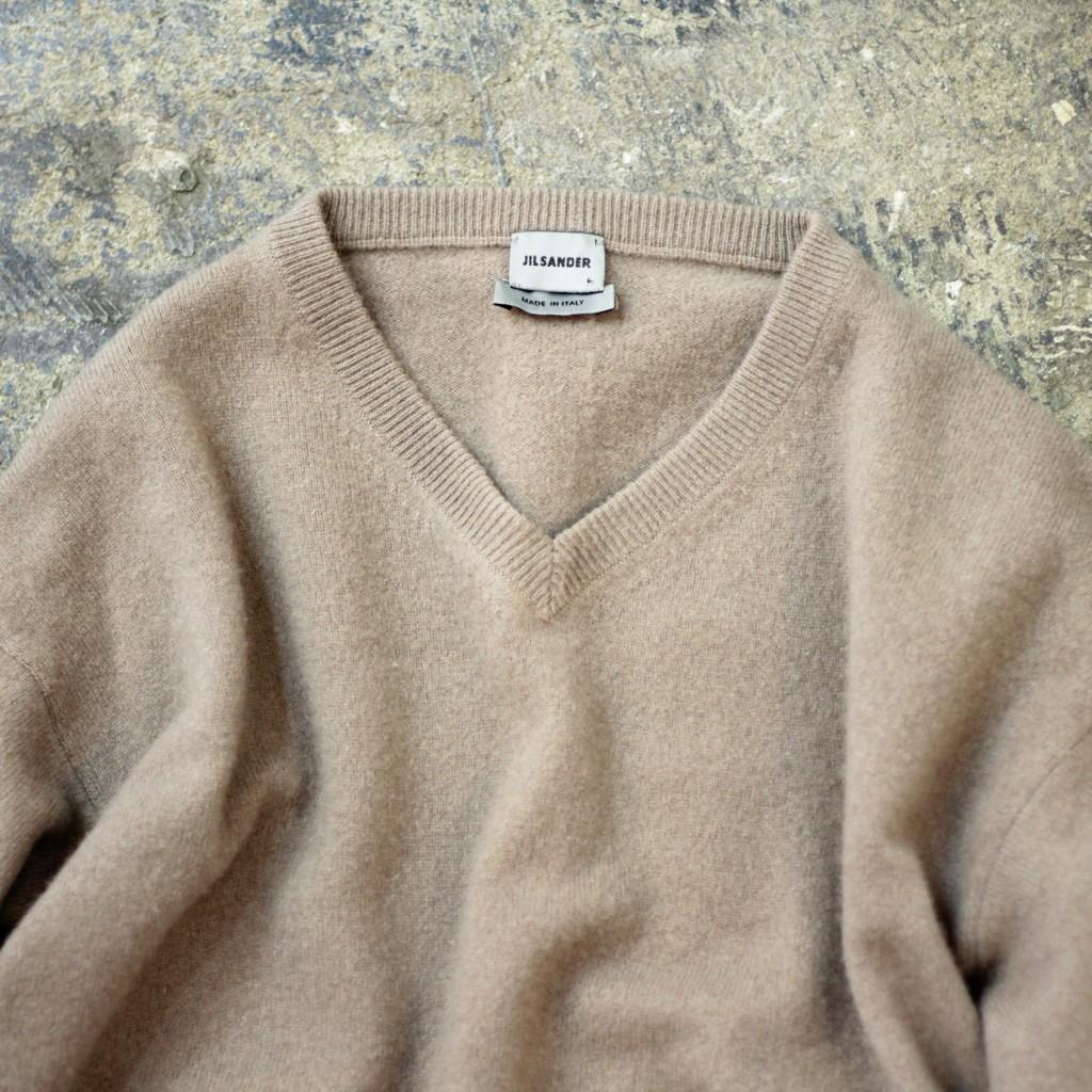 JIL SANDER Cashmere V-Neck Knit