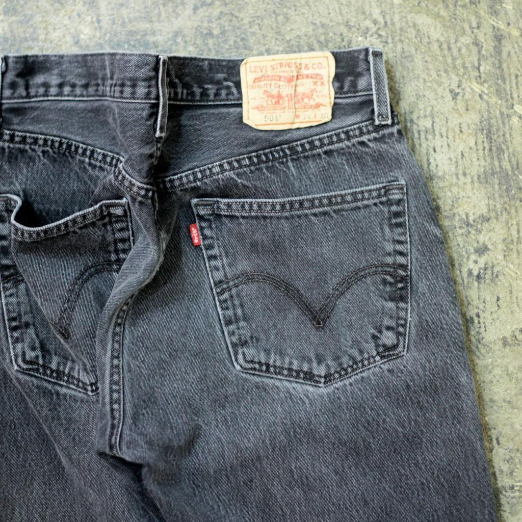 "Levi's 501 Vintage Black Denim ""Good Color"""