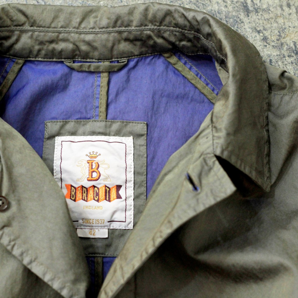 BARACUTA G10 Stain Collar Coat