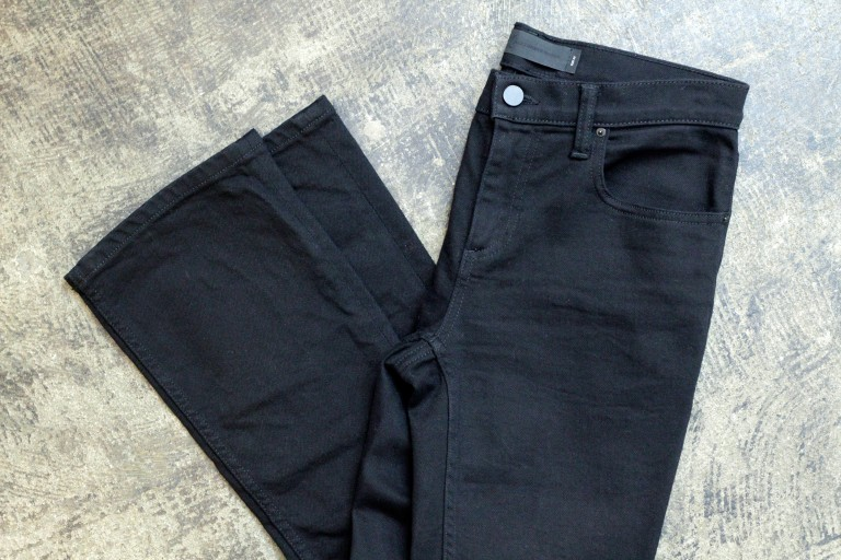 DENIM × ALEXANDER WANG Trap Boot-Cut Cropped Black Denim