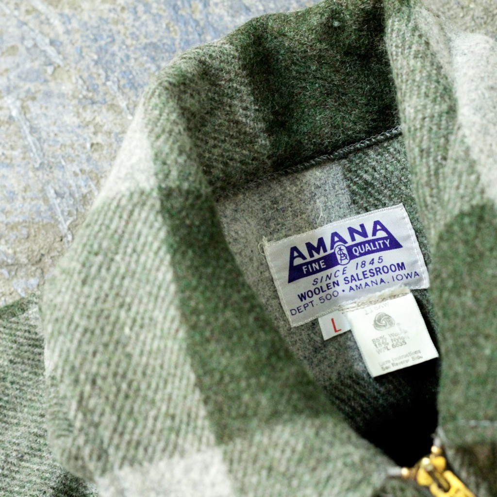 AMANA Vintage Wool Zip Up Jacket
