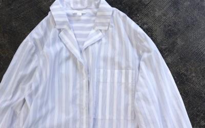 COS Open Collar Stripe Shirt