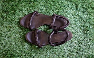 BOTTEGA VENETA Woven Strap Sandal