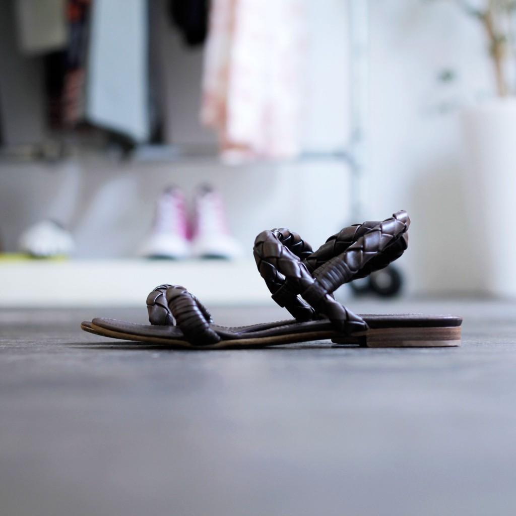 BOTTEGA VENETA Woven Leather Sandal