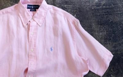 """POLO Ralph Lauren 90's S/S Linen Shirts """"BLAKE"""""""