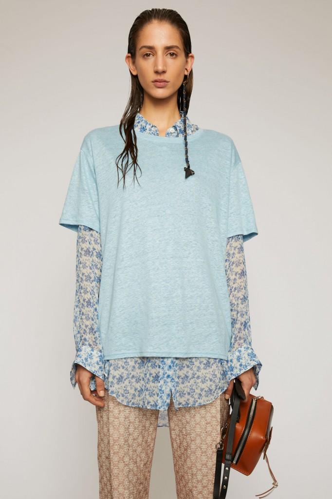 Acne Studios Relaxed Linen T-Shirt