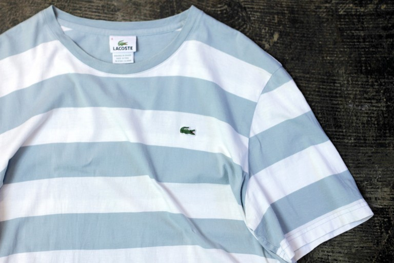 "LACOSTE Border T-Shirts ""DESIGNED IN FRANCE"""