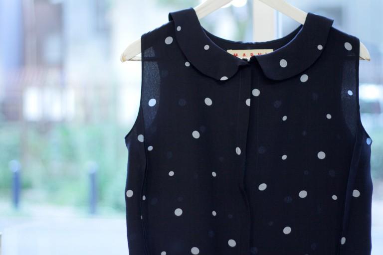 MARNI Dot Round Collar Blouse