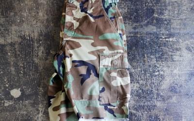 US ARMY Vintage Woodland Camo Shorts