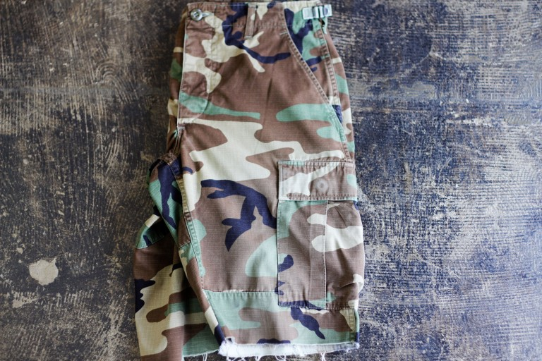 US ARMY Vintage Woodland Camo Shorts