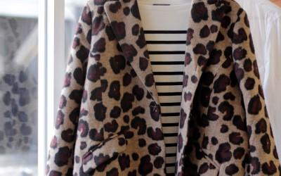 Leopard Fuzzy Long Coat