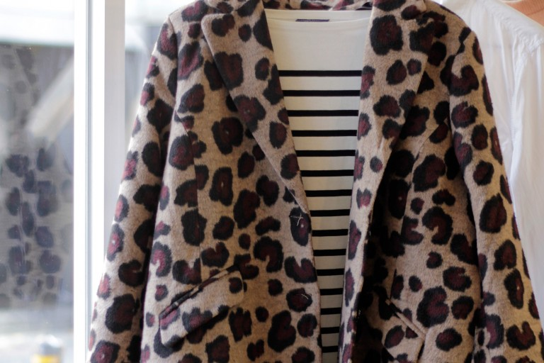 Leopard Fuzzy Long Coat