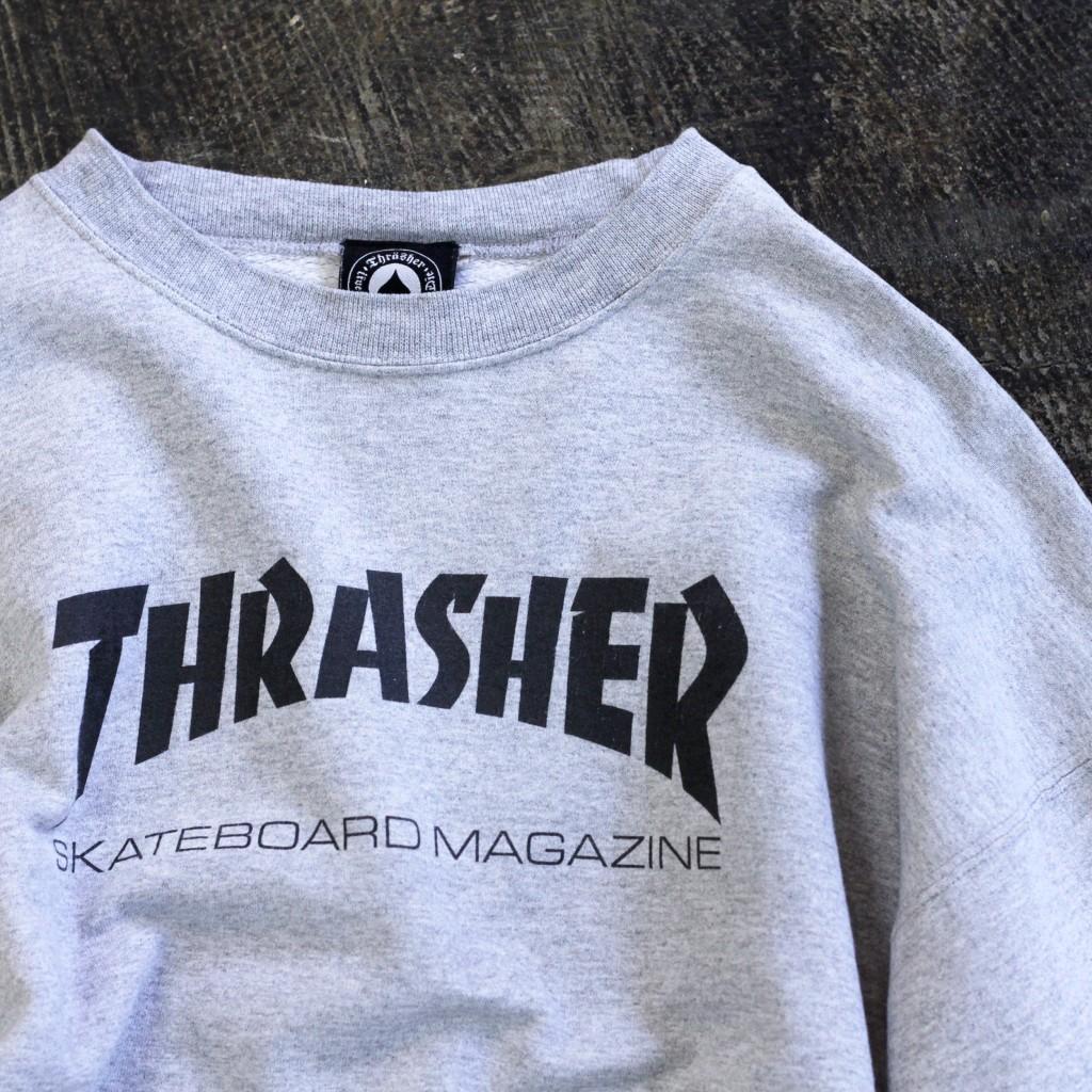 OLD THRASHER 90's Logo Crew Sweat