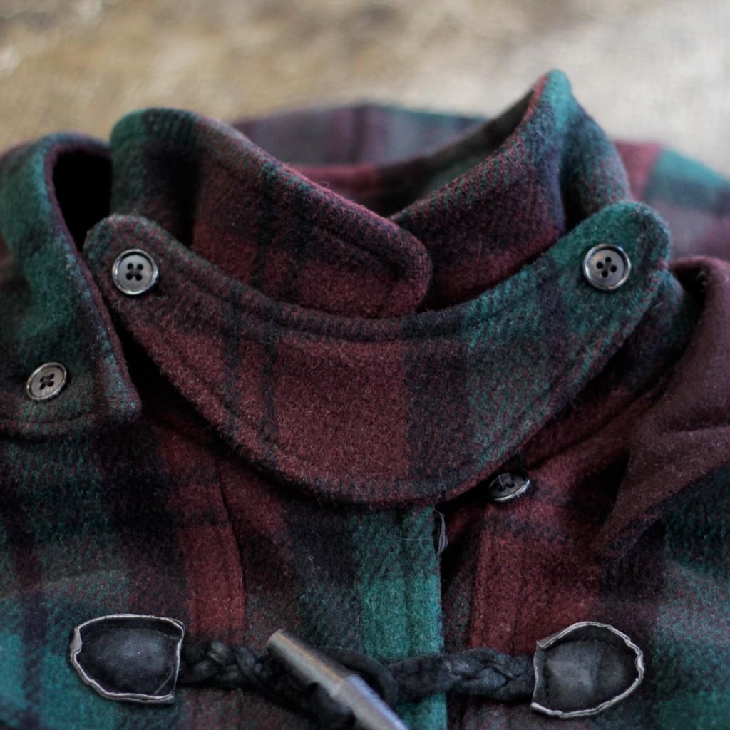 L.L. Bean 90's Plaid Check Duffle Coat