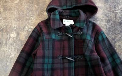 L.L. Bean 90′s Plaid Check Duffle Coat