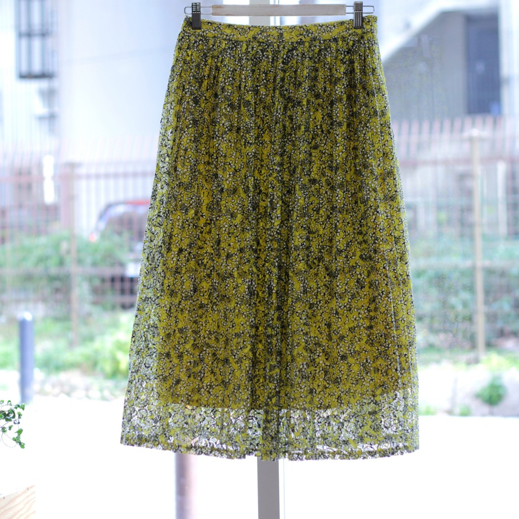 WHO WHAT WEAR Flower Pleated Lace Skirt