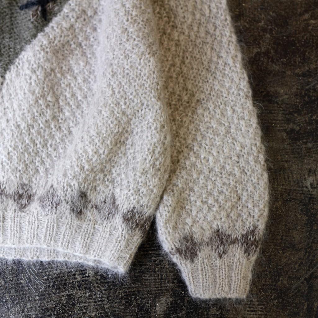 Vintage V-neck Mohair Knit