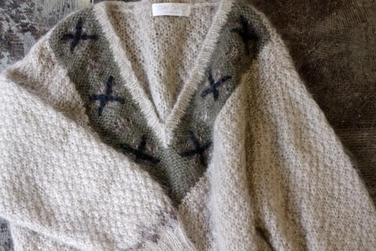 V-Neck Mohair Knit