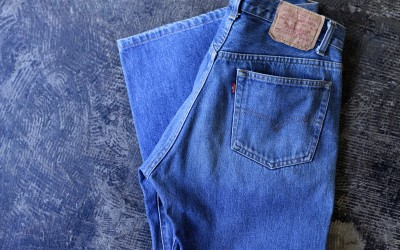 "Levi's 501 80′s Shrink-To-Fit Denim ""Made in U.S.A"""