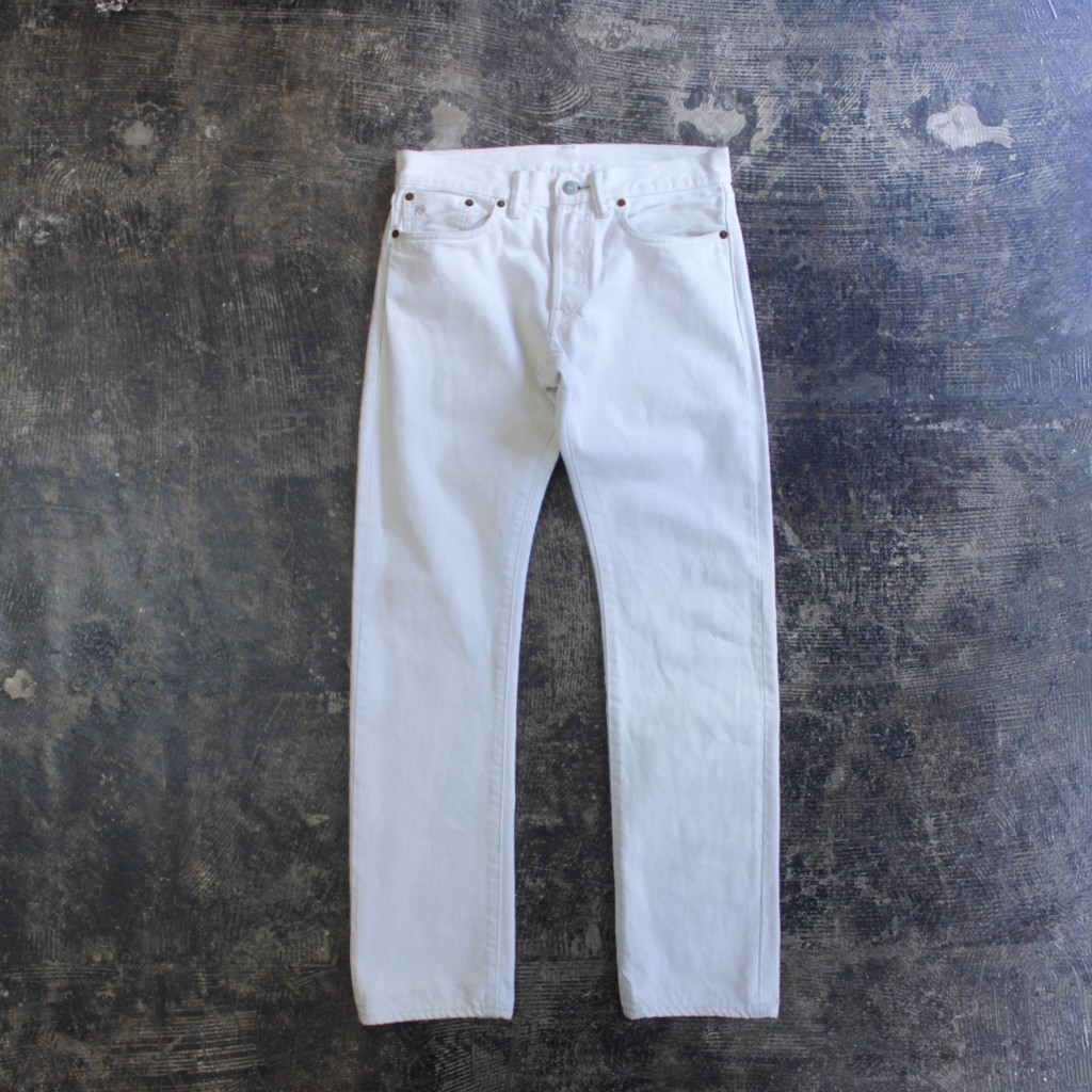 RRL Slim Fit Selvedge White Denim
