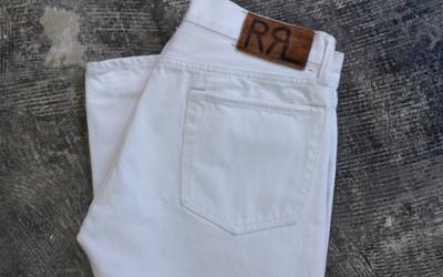 RRL Slim Fit Selvedge White Denim